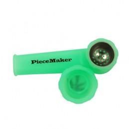 Šlukovka fajka silikónová so sitkom - zelená