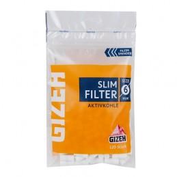 Filtre Gizeh slim uhlíkové 120 ks