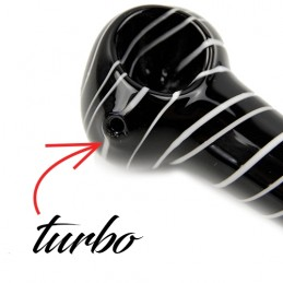 Šlukovka pyrex spiral black/white
