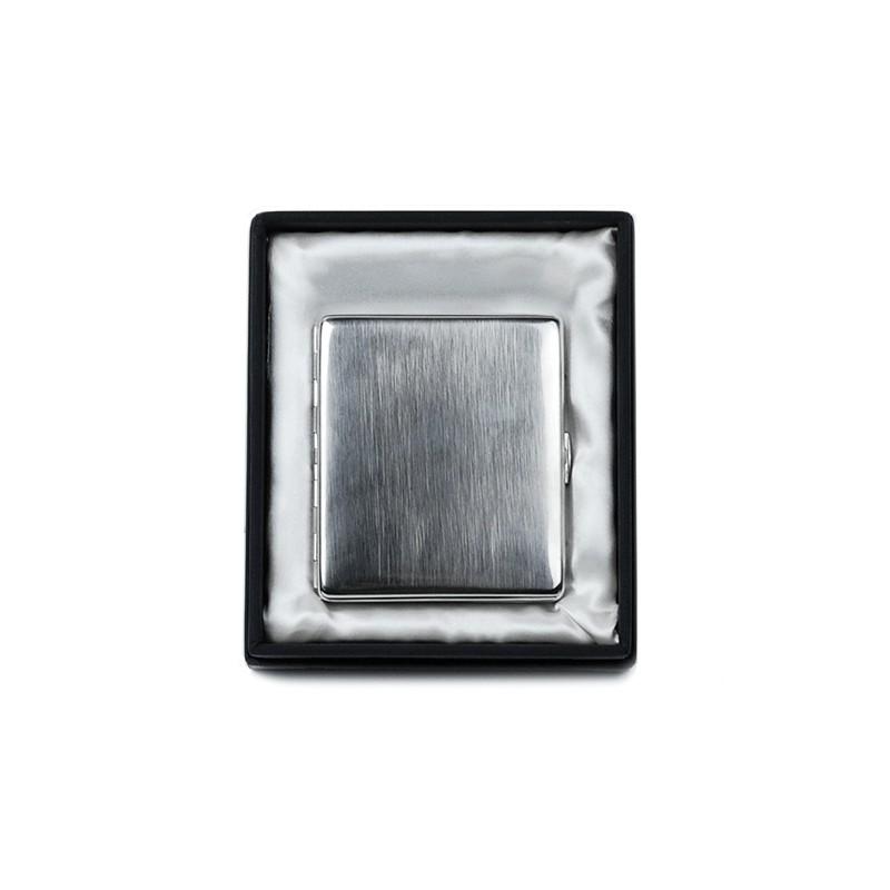 Cigaretové púzdro metalická sivá