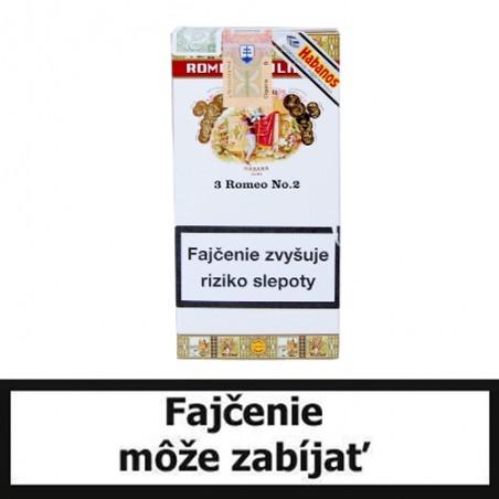 Balenie cigár Romeo y Julieta No.2 tubos po 3