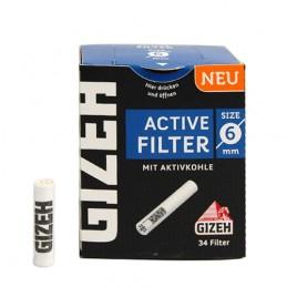 Gizeh Uhlíkové filtre 6mm 34 kusov