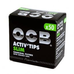 Uhlíkové filtre OCB Activ Slim 7mm 50 kusov