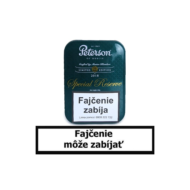 Fajkový tabak Peterson Special Reserve Limited Edition