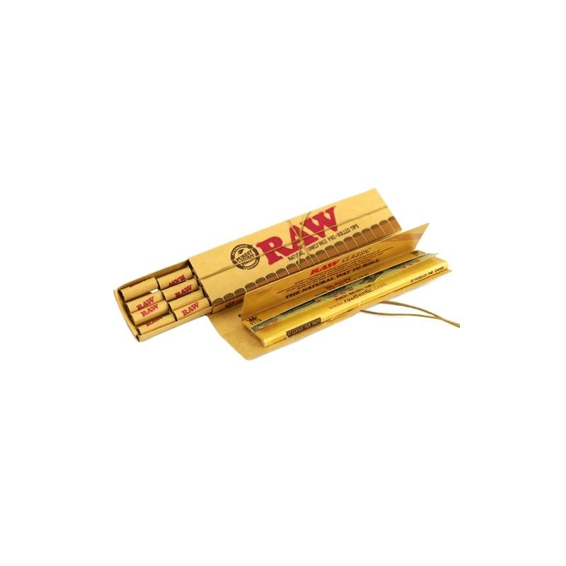 Papieriky RAW Connoisseur KingSize Slim + Predrolované filtre