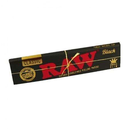 Papieriky RAW Classic King Size Slim Black