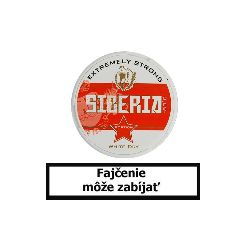 Žuvací tabak Siberia -80 Degrees White Dry Portion 13g Snus