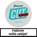 Žuvací tabak General CUT Titanium White Portion Ice 18g Snus
