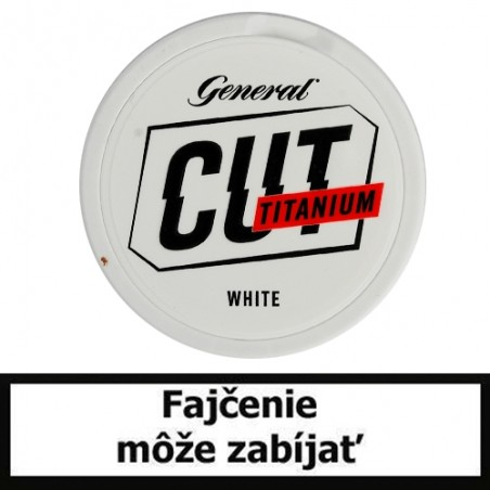 Žuvací tabak General CUT Titanium White Portion 21,6g Snus