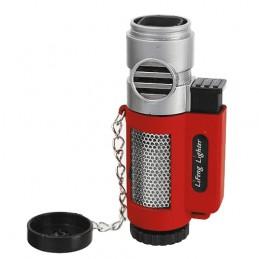 Cigarový zapaľovač 4 tryskový - červený