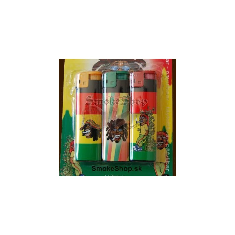 Piezoelektrický zapalovač Rastaman / 3pack