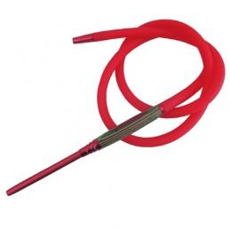 Silikónová hadica na vodnú fajku Zebrano - Červená