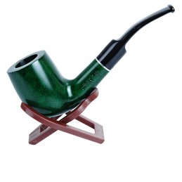 Fajka Jean Claude zelená zahnutá 8385