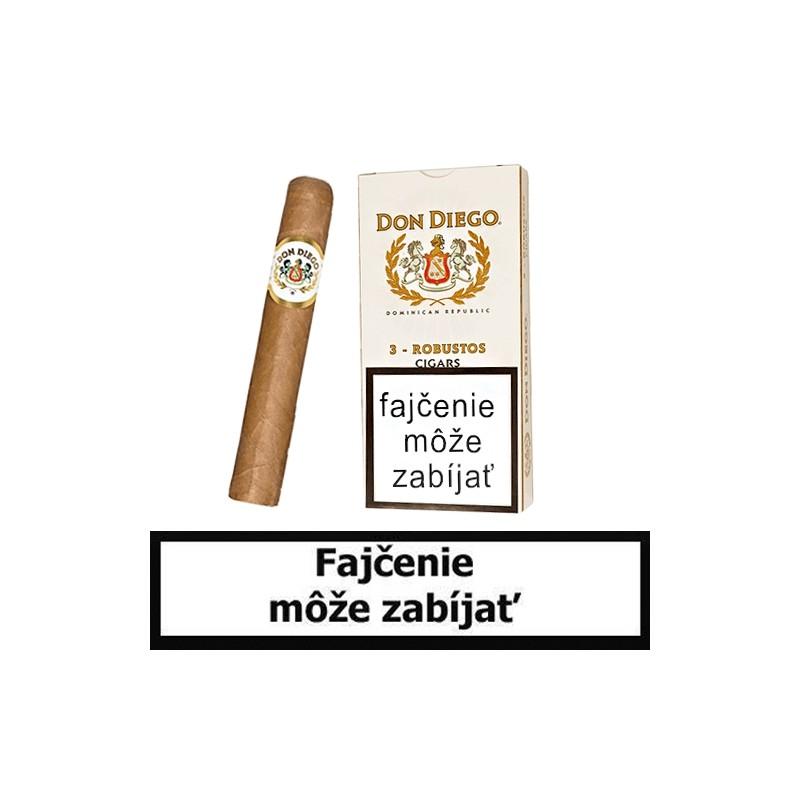 Cigary DON DIEGO  Robusto - Balenie 3 ks