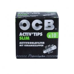 Uhlíkové fitre OCB Activ Slim 7mm 10 kusov