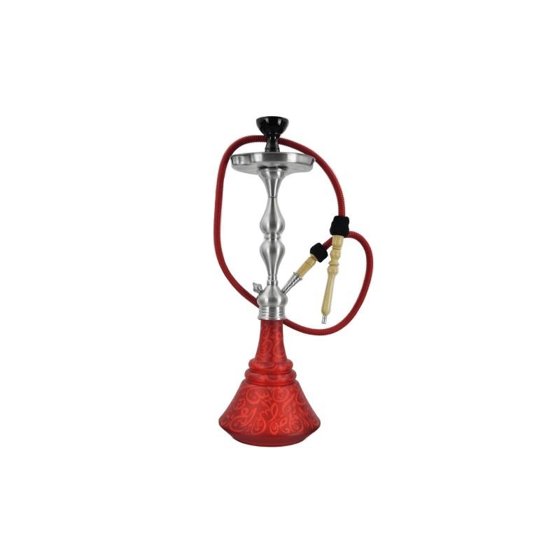 Vodná fajka Aladin Roy 65 cm - Červeno-oranžová