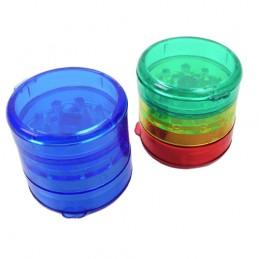 Grinder Drvička Akryl 4 dielna Mix farieb