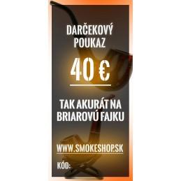 40€ darčekový poukaz