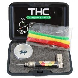 Bohatý Darčekový set THC mini - Šlukovka fajka, drvička, dreambox, sitká, čistenie fajky