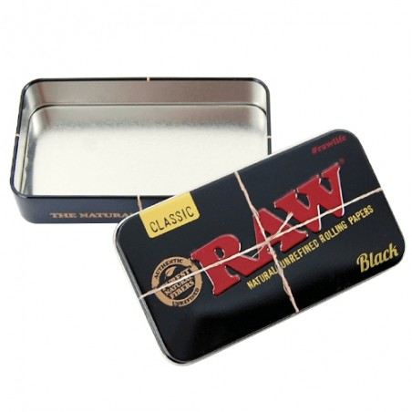 RAW Black Tin Case: Krabička RAW čierna