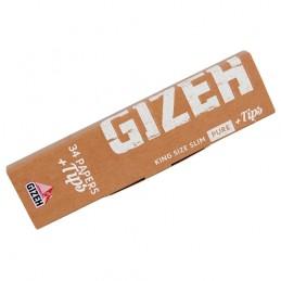 Cigaretové papieriky Gizeh King Size Slim Pure + Tips