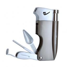 Fajkový zapaľovač Silver Match gun metal