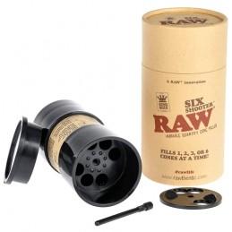 RAW Six Shooter - Plnič dutiniek a predrolovaných bluntov