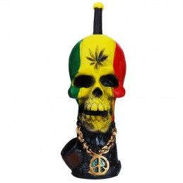 Mini fajka šlukovka Rasta Skull Lebka