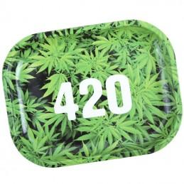 Roll Tray Ganja 420 Green