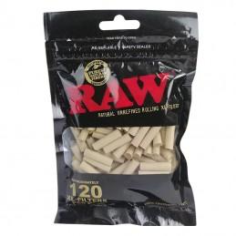 Cigaretové filtre RAW black Biodegradable Slim 120 kusov