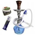 Darčekový set vodná fajka Aladin ROY2 s uhlíkmi a kamienkami do vodnej fajky Shisharoma