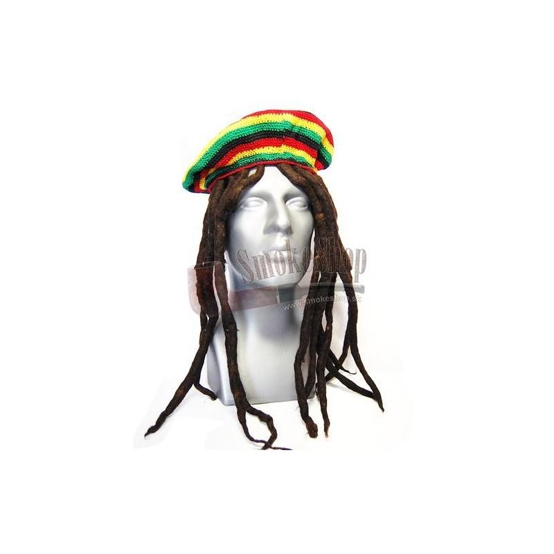 Textil klobúk s dredmi