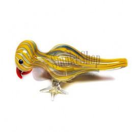 Šlukovka pyrex - sklenená fajka vtáčik