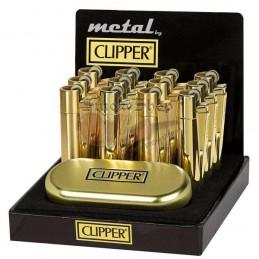 Zapaľovač Kovový CLIPPER Metal Lux Gold