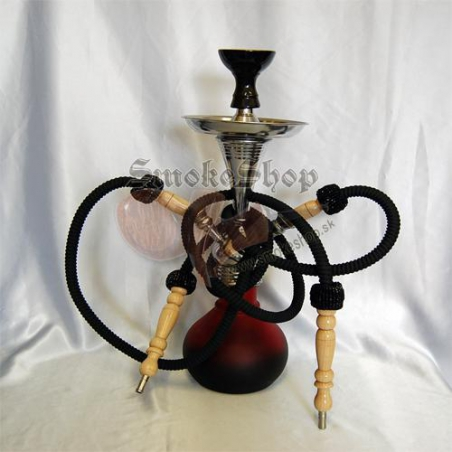Vodná fajka Numéa (červená-čierna)