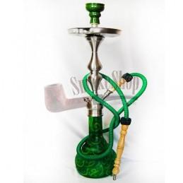 Vodná fajka Istanbul (žlto zelená) Aladin