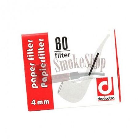 Fajkové filtre DENICOTEA 4 mm 60 ks
