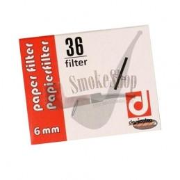 Fajkové filtre DENICOTEA 6 mm 36 ks
