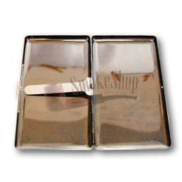 Cigaretové púzdro 120 mm kovové / matné