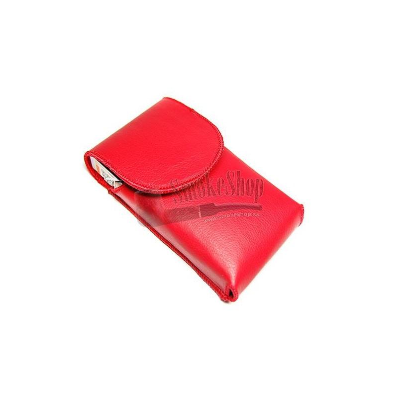 Púzdro na cigarety SLIM - koža červené