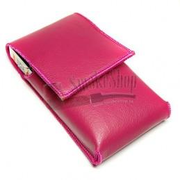 Púzdro na cigarety SLIM - koža ružové