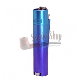 Zapalovač CLIPPER lux metal violet-blue