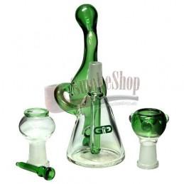 Sklenené Bongo Bubbler Mini Green
