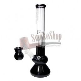 Sklenené bongo s Precoolerom 30cm - Black