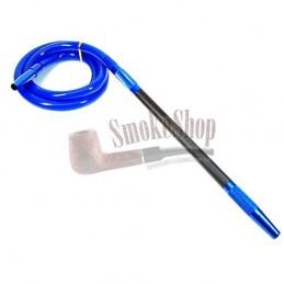 Silikónová hadica na vodnú fajku AMY Modrá - Matný náustok