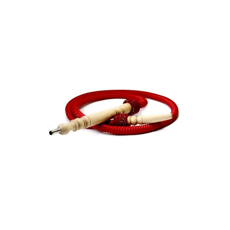 Hadica na vodnú fajku Aladin - bordová/červená