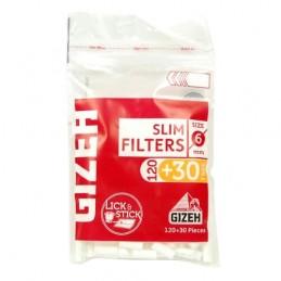 Cigaretové filtre Gizeh Slim, 120 ks