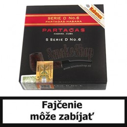 Cigary Partagas No.6  - Balenie 5 ks