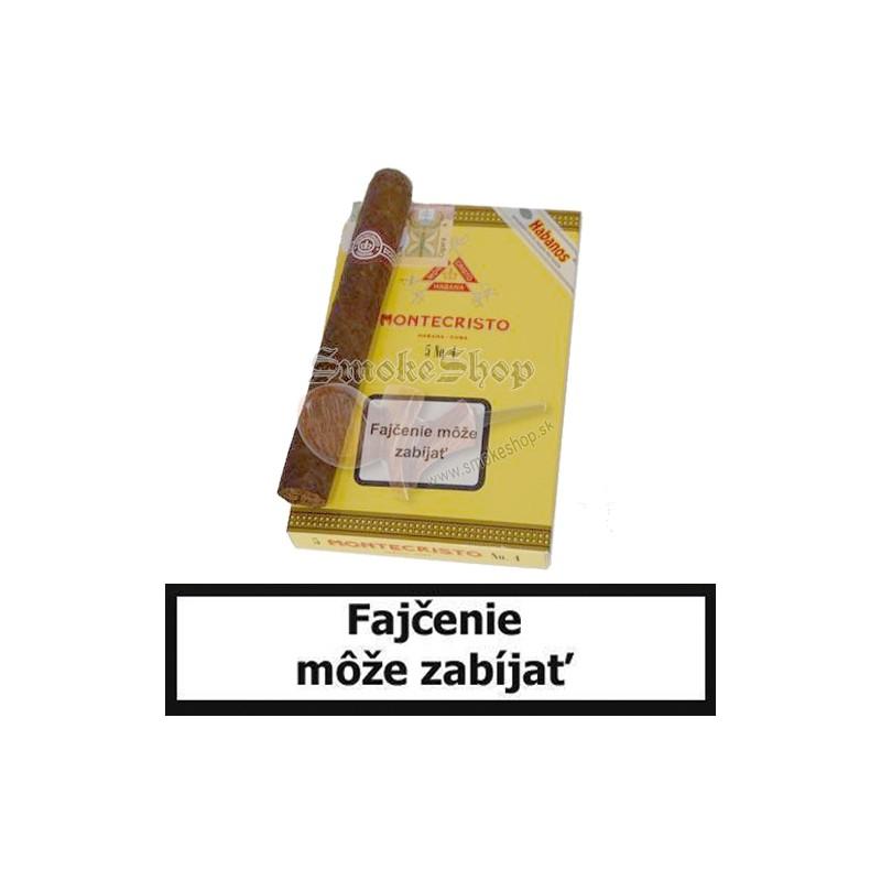Kubánske cigary Montecristo No.4  po 5 kusov