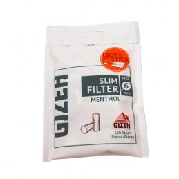 Cigaretové filtre Gizeh Slim 120 Mentol